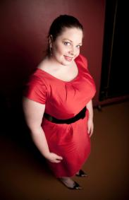 Red Plus Size Cocktail Party Dress